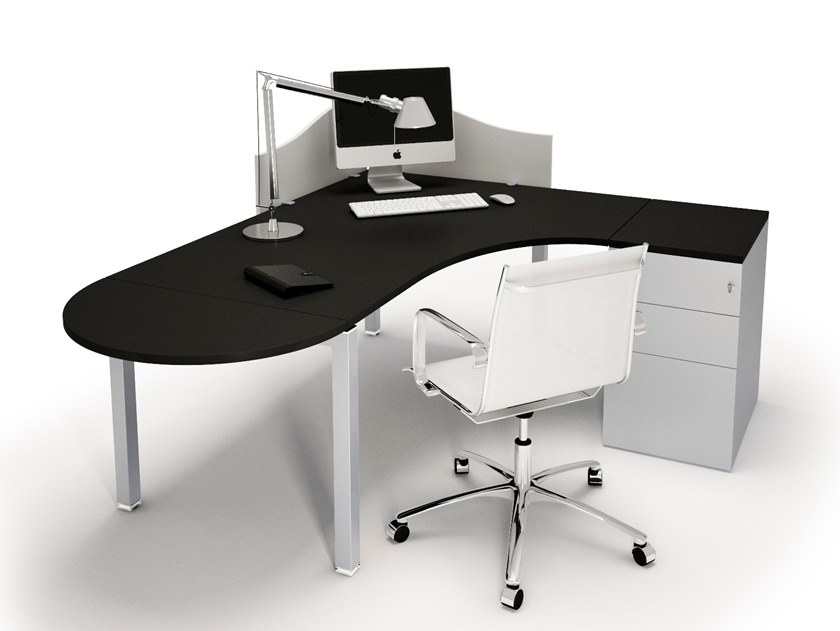 Sectional office desk with drawers GATE | Office desk with drawers by Bralco