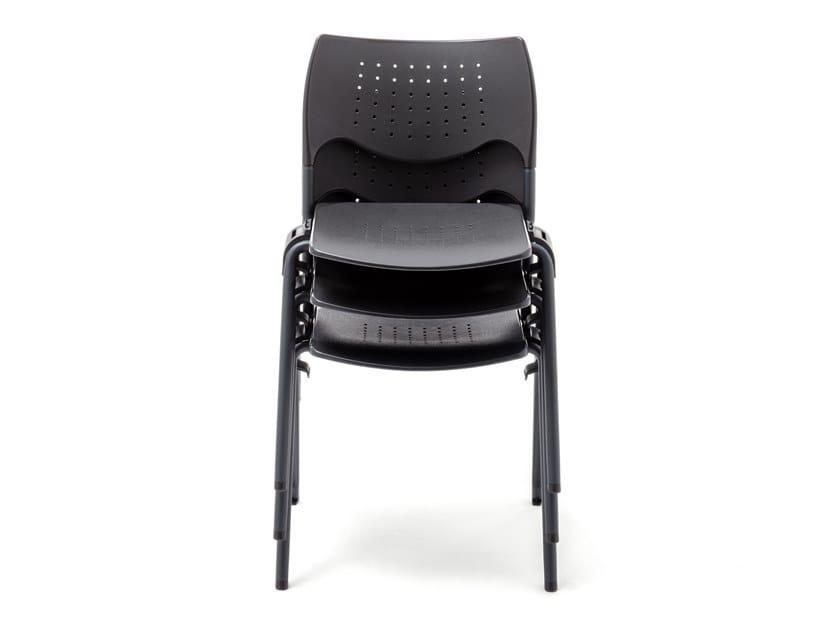 Stackable polypropylene chair GATE   Chair by Mara