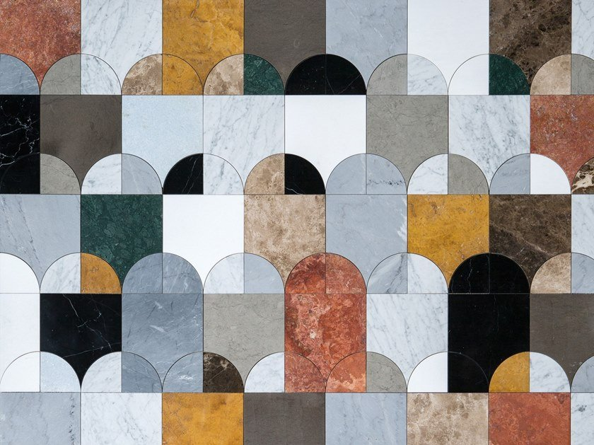 Marble wall tiles GATEWAY by Lithos Mosaico Italia