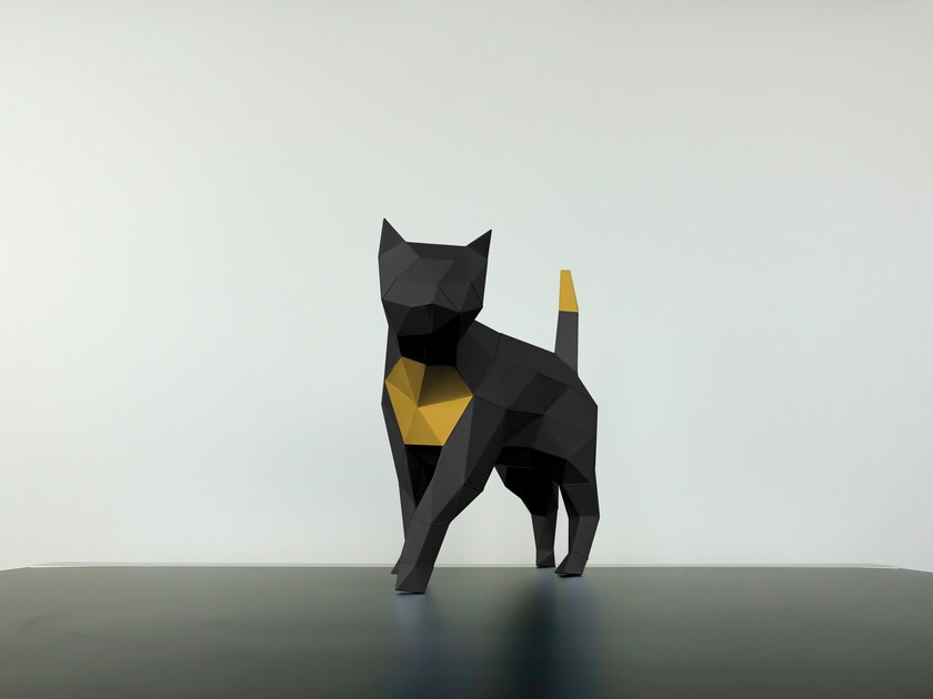 Paper sculpture CAT by Papertrophy