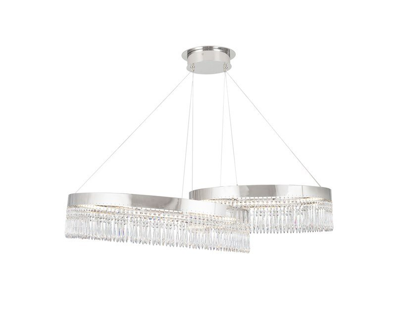 LED pendant lamp with crystals GAUSS by Green Apple
