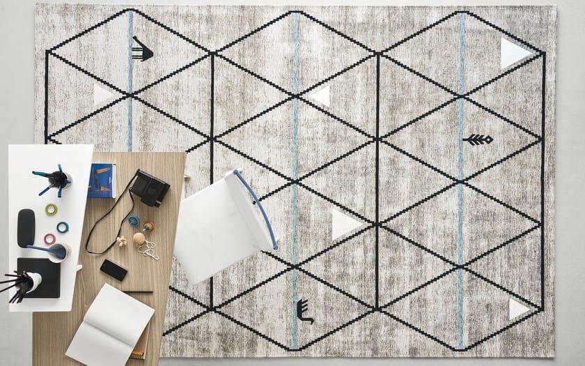 Rectangular Rug With Geometric Shapes Gava By Calligaris Design