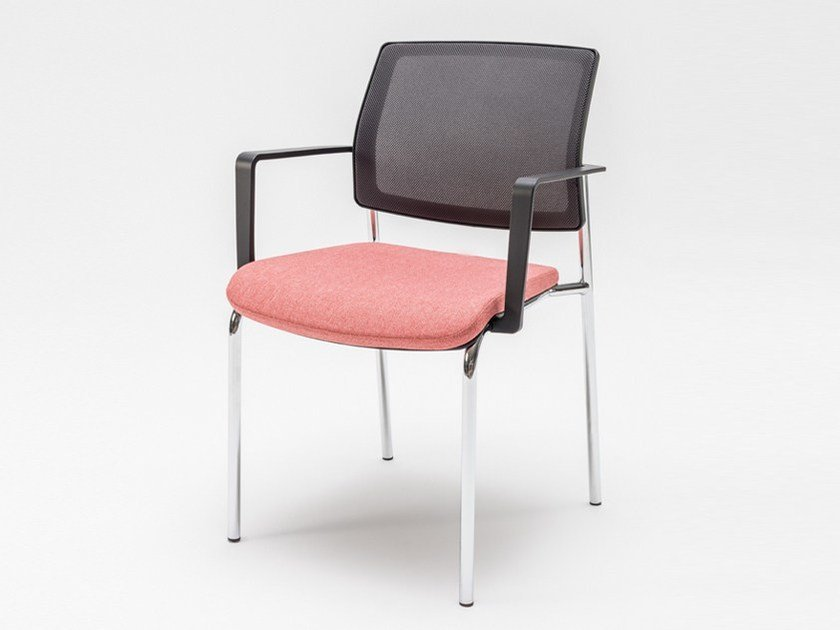 Ergonomic upholstered chair with armrests GAYA | Chair with armrests by MDD
