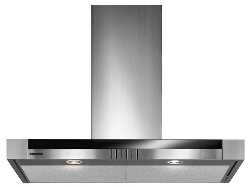 Class A+ wall-mounted steel cooker hood with integrated lighting GDK 5776 BXB | Wall-mounted cooker hood by Grundig