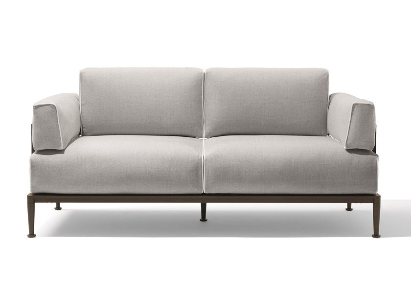 3 seater fabric sofa with removable cover GEA | Sofa by GIORGETTI