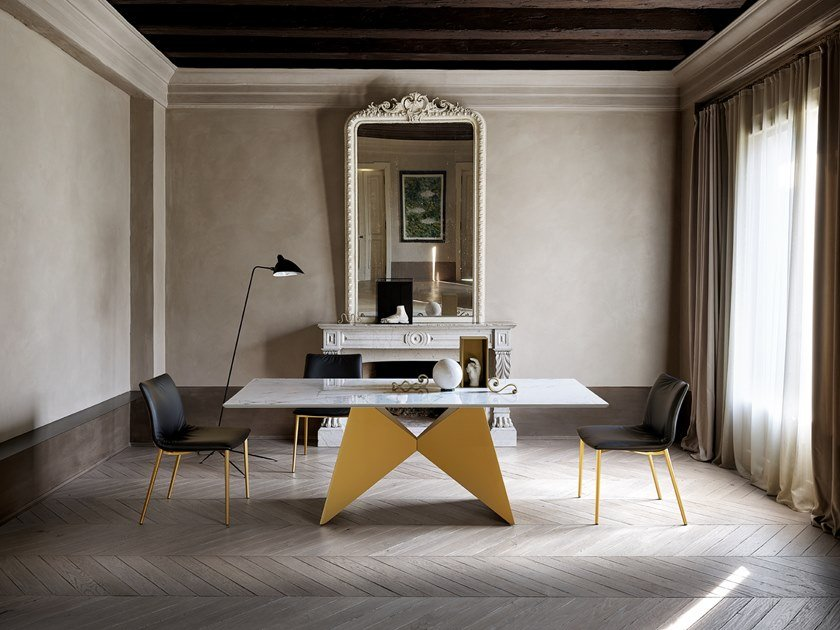 Wooden dining table GEMINI by Ronda Design