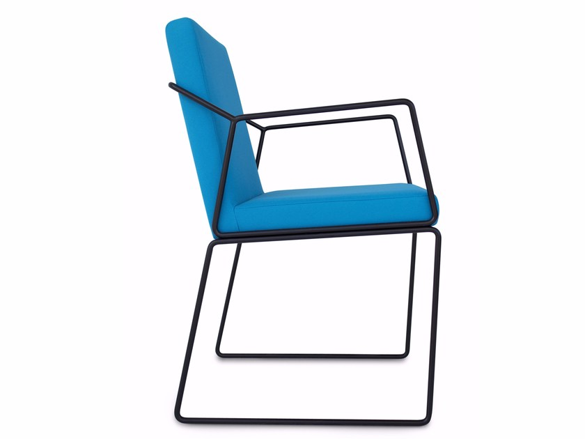Upholstered fabric chair with armrests GEMMA | Chair with armrests by Altinox