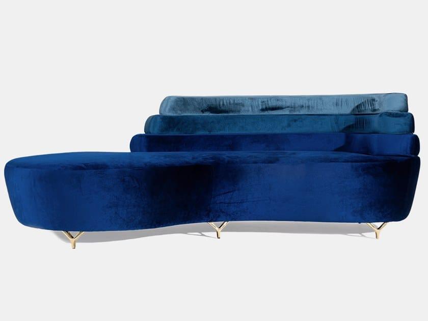 Velvet sofa GENE by Ottiu