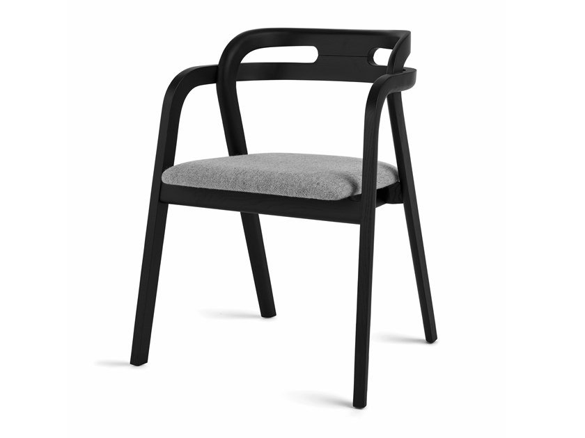 Wooden armchair with armrests GENEA ARMCHAIR by Passoni