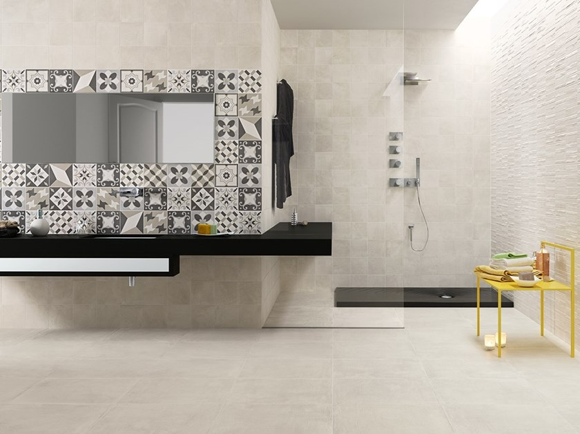 Porcelain stoneware wall/floor tiles with concrete effect GENESIS by Panaria Ceramica