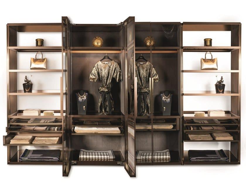 Cabina armadio componibile in alluminio GENESIS | Cabina armadio by Visionnaire