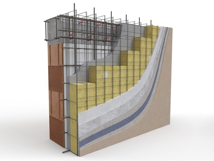 Formwork system for load-bearing wall GENIALE CAPPOTTO SISMICO by ECOSISM