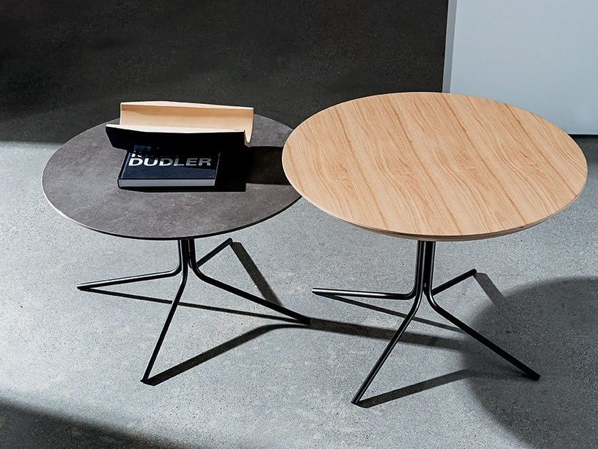 Round wooden coffee table GENIUS WOOD by Sovet italia