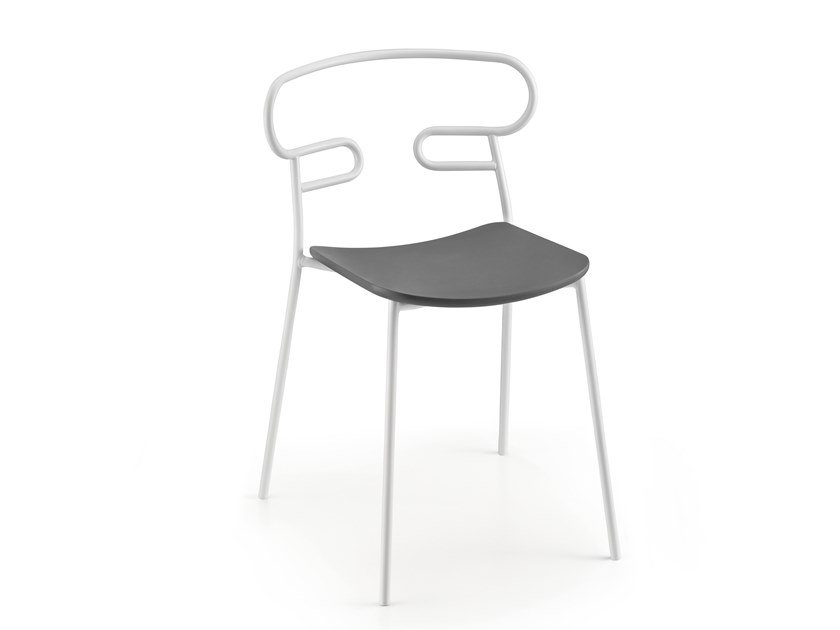 Open back metal and polyurethane chair GENOA | Chair by TrabA'
