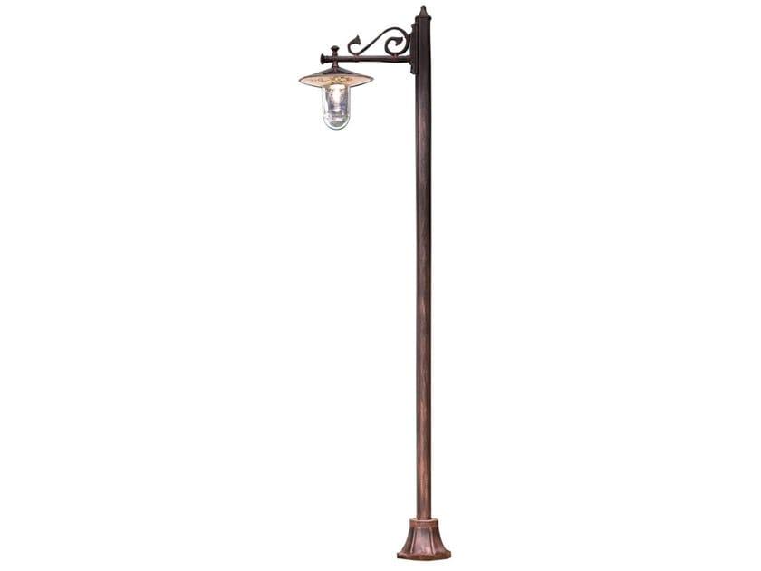 Lantern ceramic garden lamp post GENOVA | Garden lamp post by FERROLUCE