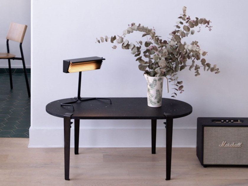 Oval Recycled Plastic Coffee Table Genova By Tiptoe
