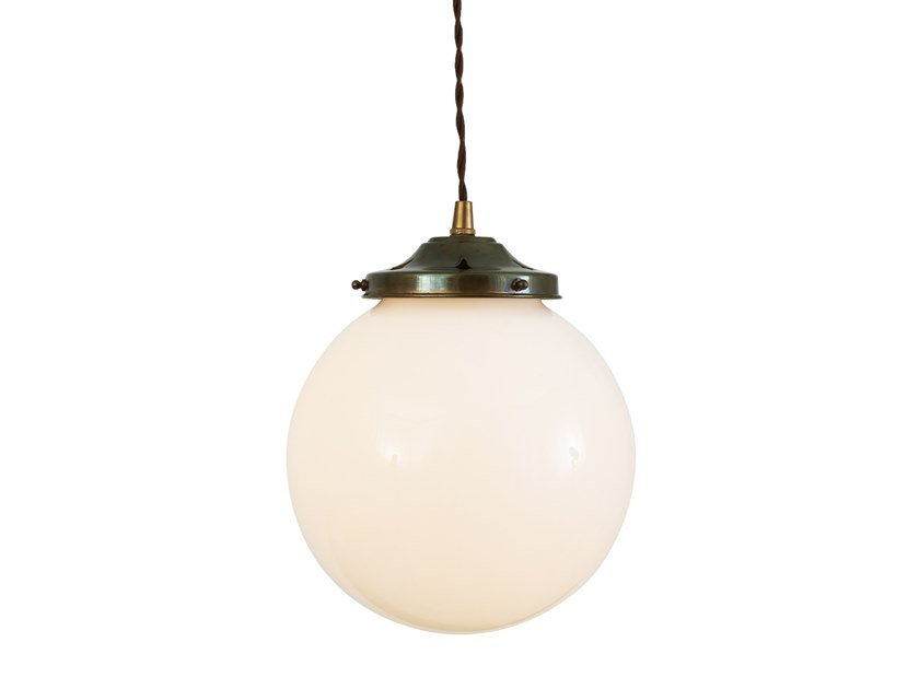 Direct light handmade pendant lamp GENTRY 20CM OPAL GLOBE PENDANT by Mullan Lighting
