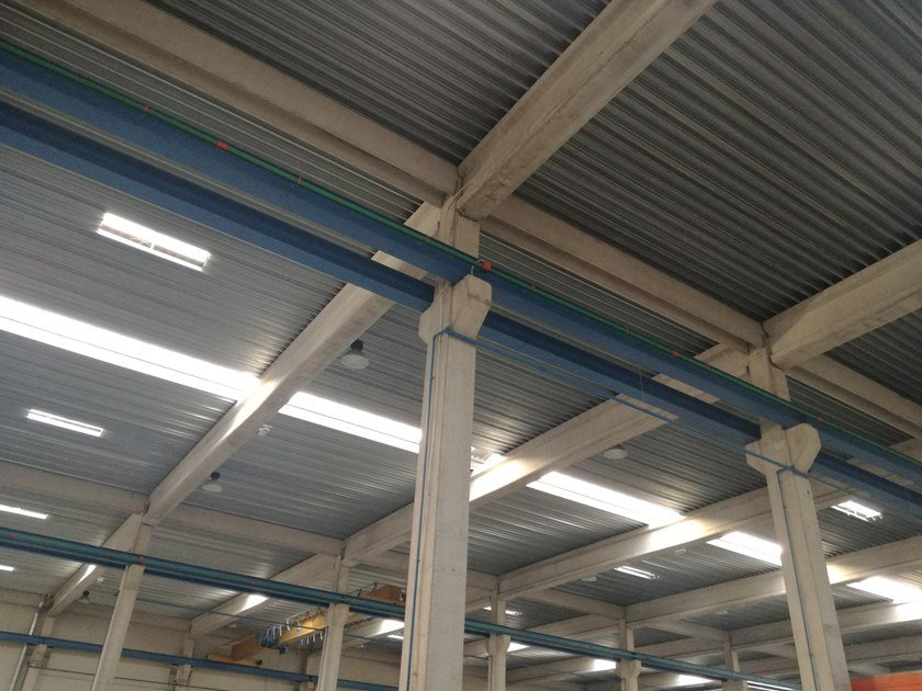 Corrugated and undulated sheet steel GENUS 55 SECCO by UNIMETAL