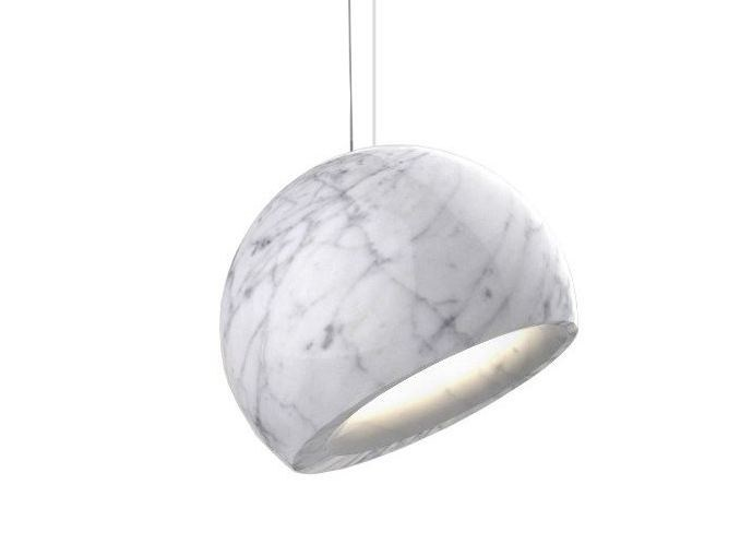 LED Carrara marble pendant lamp GEO by Inarchi