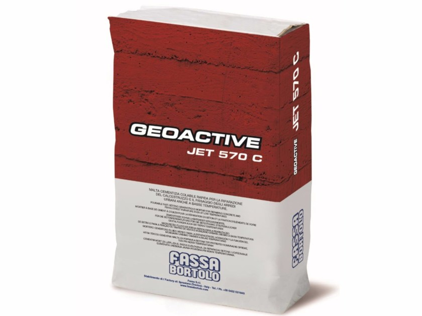 Mortar for masonry GEOACTIVE JET 570 C by FASSA