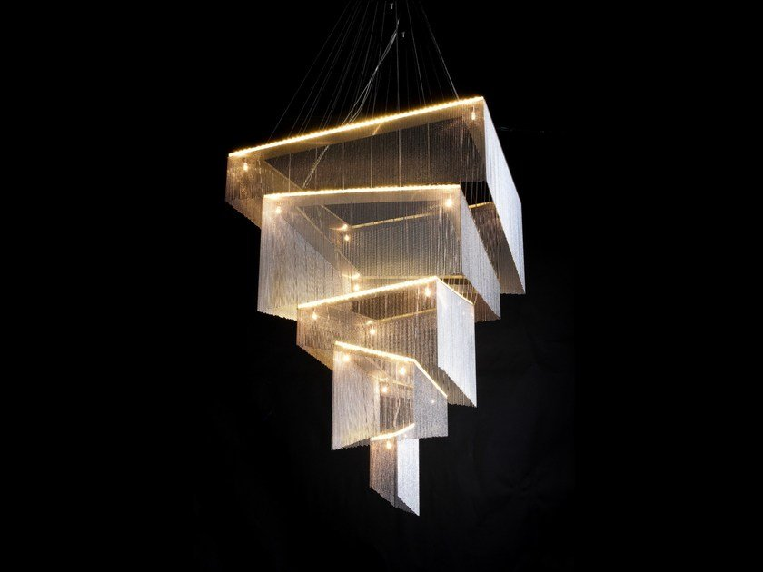 Chandelier GEOMETRIC STORM by Willowlamp