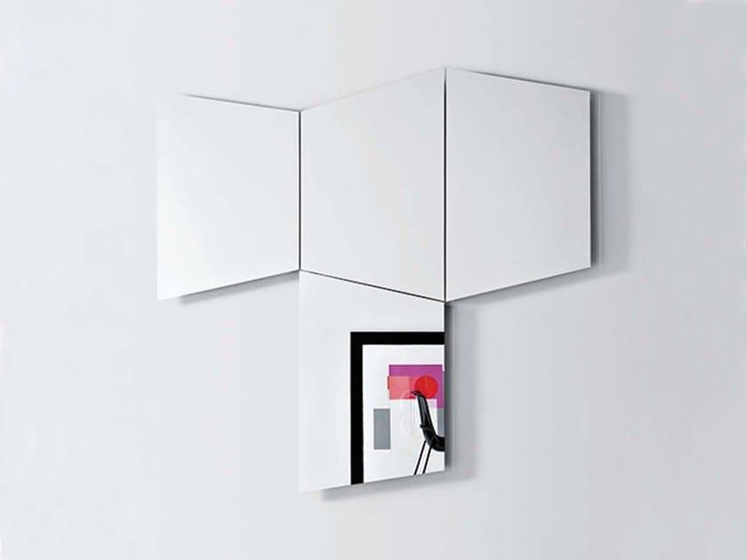Wall-mounted mirror GEOMETRICA TRAPEZOIDALE by PIANCA
