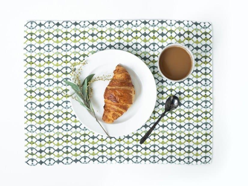 Rectangular linen placemat GEOMETRICAL PRINT | Placemat by Linen Tales