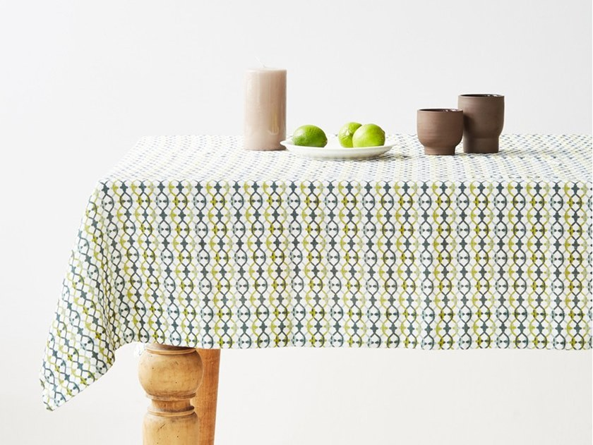 Linen tablecloth GEOMETRICAL PRINT | Tablecloth by Linen Tales