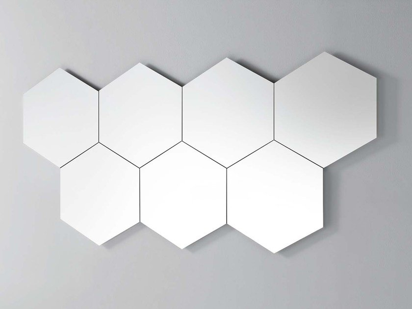 Wall-mounted mirror GEOMETRIKA ESAGONALE by PIANCA