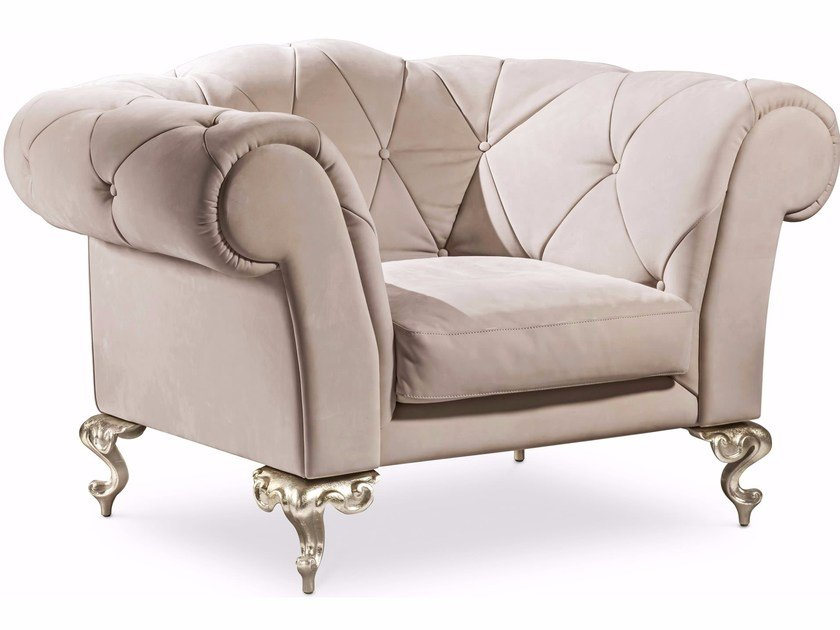 Tufted armchair with armrests GEORGE | Armchair by Cantori