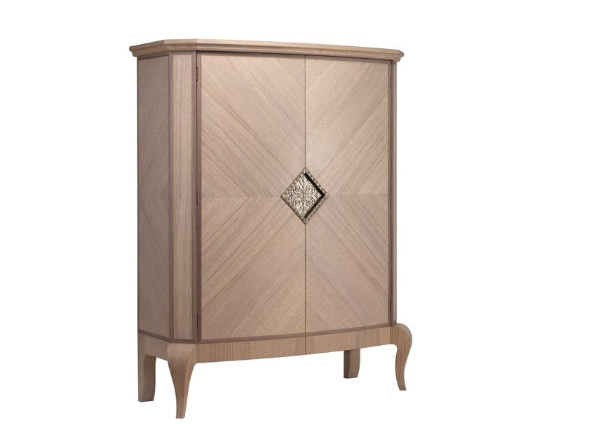 Contemporary style wooden bar cabinet GEORGE | Bar cabinet by L'Origine