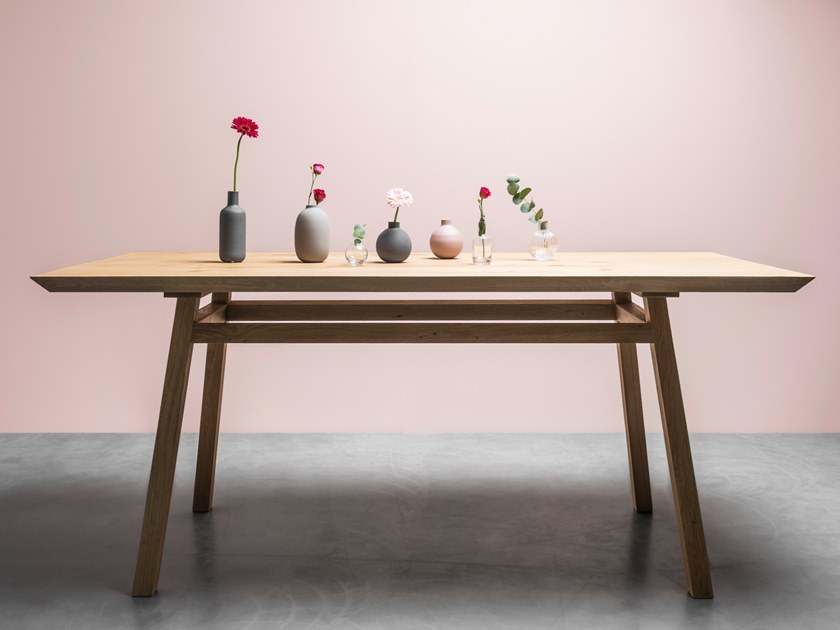 Dining table made of solid oak GEORGE by Hoom