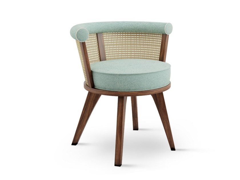 Upholstered walnut chair with armrests GEORGE by Wood Tailors Club