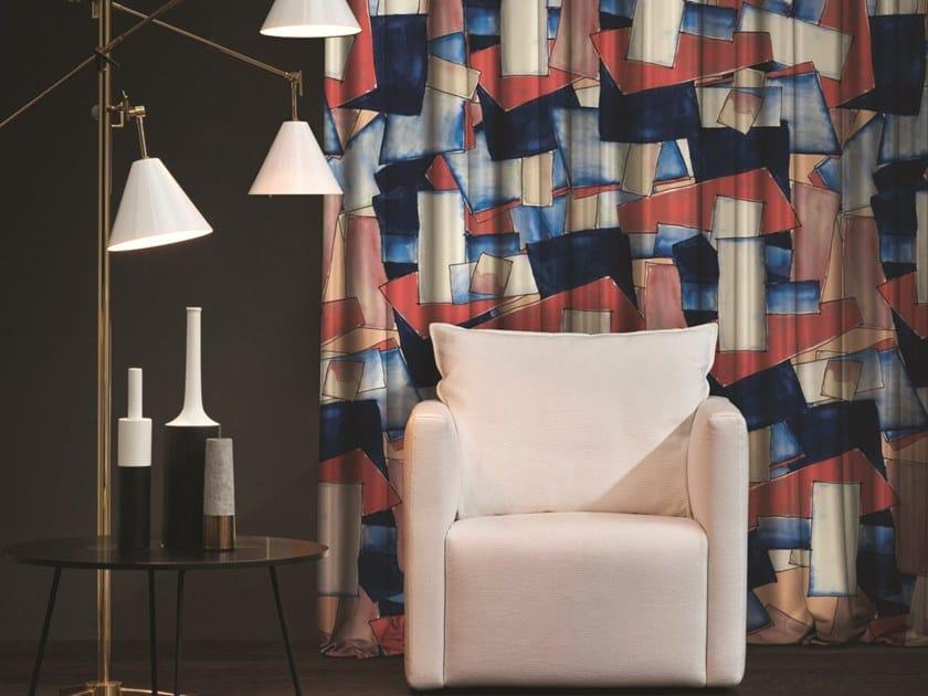 Tissu tendu en taffetas à motifs graphiques pour rideaux GEORGETTE ...