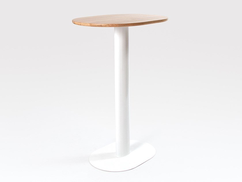 Oval steel and wood high table GEORGIE | High table by Liqui Contracts