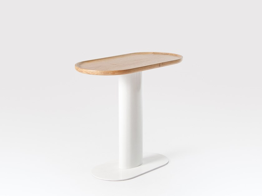 Oval steel and wood side table GEORGIE | Side table by Liqui Contracts