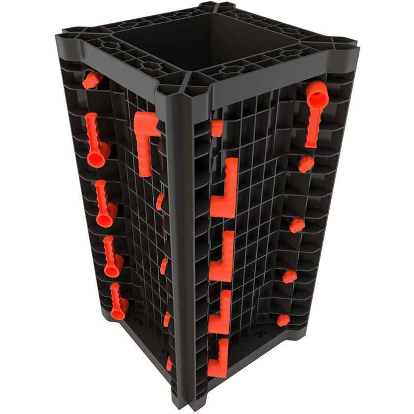 Formwork and formwork system for concrete GEOTUB PANEL By