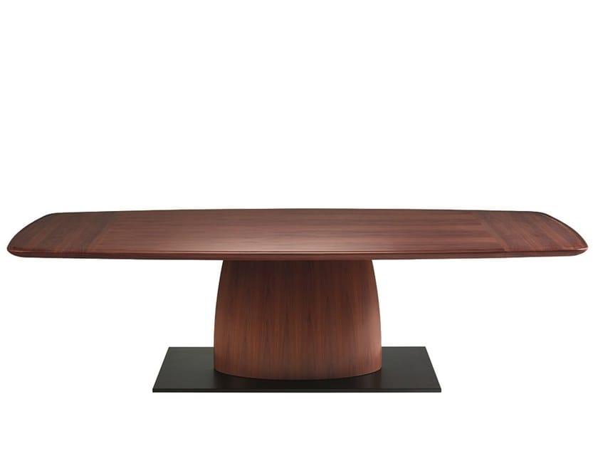 Rectangular wood-bronze living room table GERARDO by Promemoria