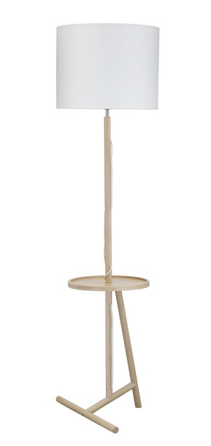 Contemporary style wooden floor lamp GERI FL HM by ENVY