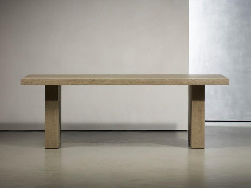 Wooden office desk / table GERRIT by Piet Boon