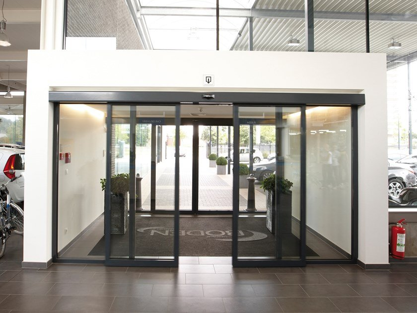 Sliding Automatic entry door GEZE POWERDRIVE / POWERDRIVE FR by GEZE