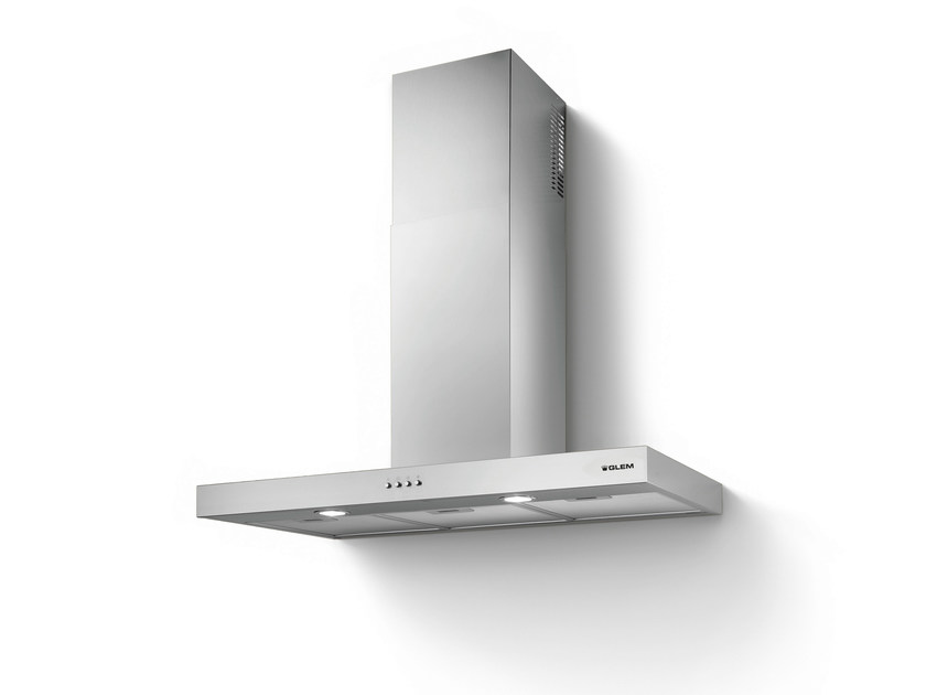 Wall-mounted cooker hood with integrated lighting GHB98IX | Cooker hood by Glem Gas