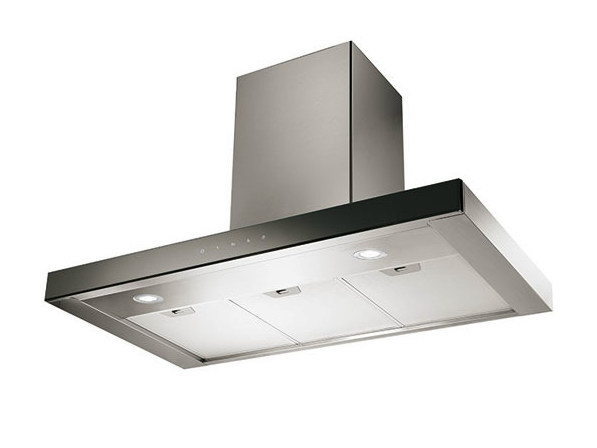 Ceiling-mounted cooker hood with integrated lighting GHBP98IX | Cooker hood by Glem Gas