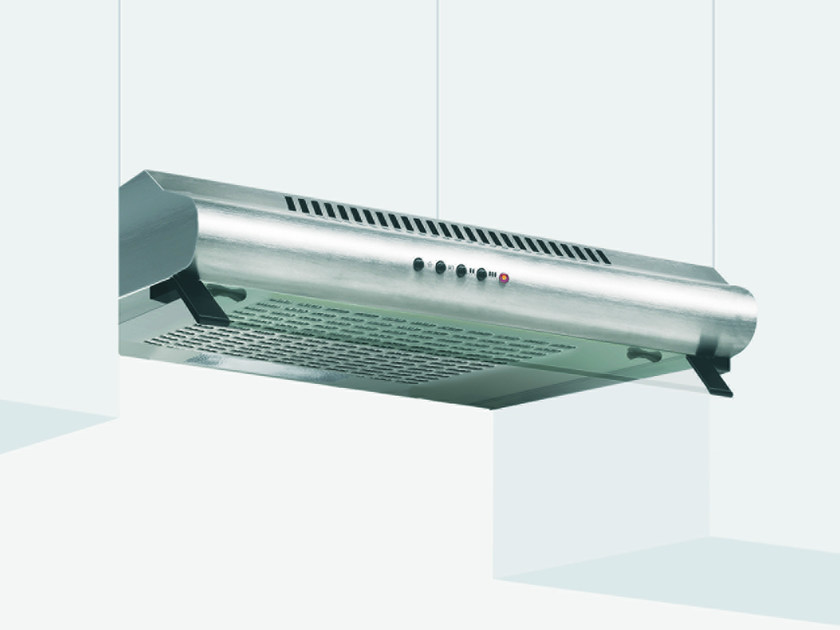 Wall-mounted cooker hood with integrated lighting GHC95IX | Cooker hood by Glem Gas