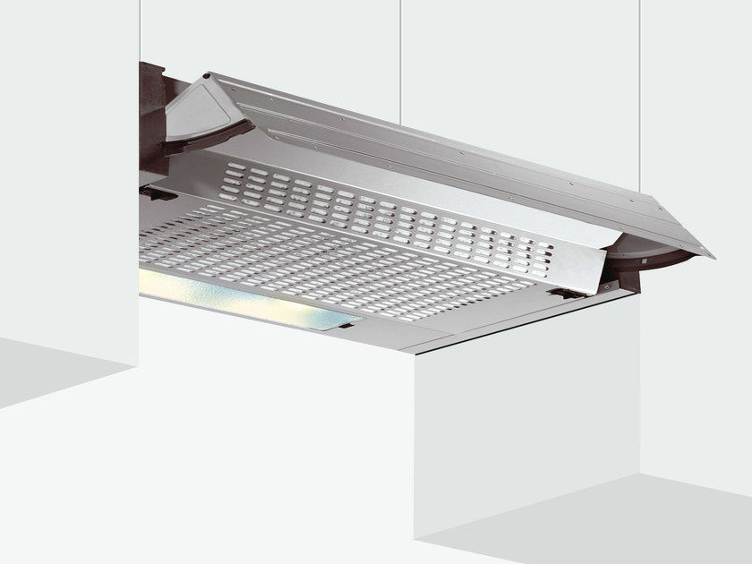 Wall-mounted cooker hood with integrated lighting GHE90SI | Cooker hood by Glem Gas