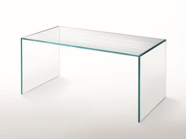 Rectangular crystal table GHIACCIOLO PONTE | Table by Glas Italia