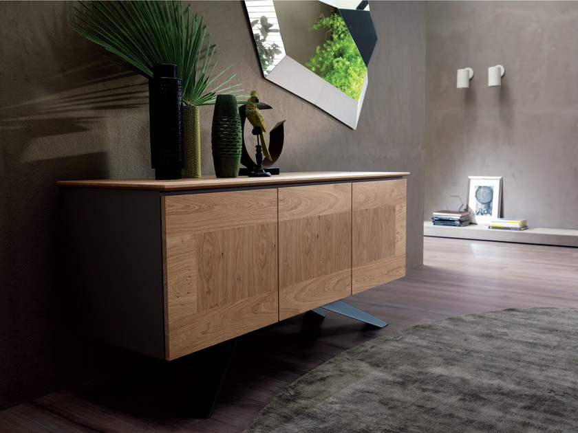 Wooden sideboard with doors GHIBLI by Ozzio Italia