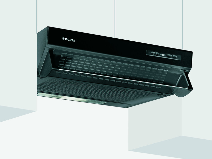 Wall-mounted cooker hood with integrated lighting GHL60BK   Cooker hood by Glem Gas