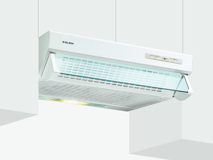 Wall-mounted cooker hood with integrated lighting GHL60WH | Cooker hood by Glem Gas