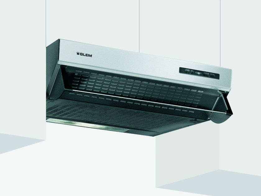 Wall-mounted cooker hood with integrated lighting GHL80IX | Cooker hood by Glem Gas